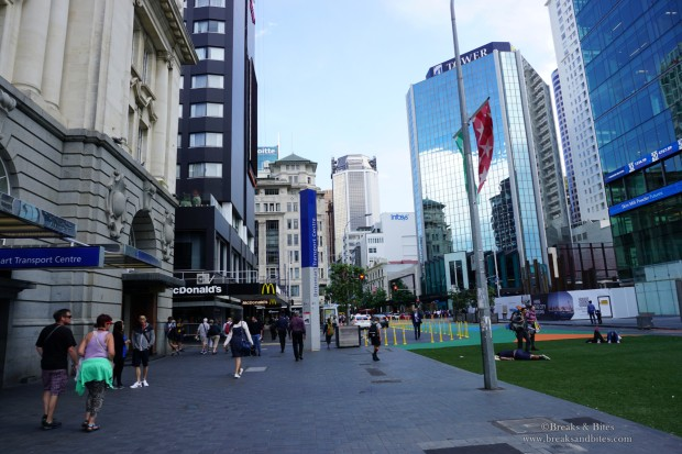 Queen Street view from Britomart Transport Centre