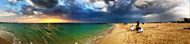 The spell binding panoramic view of the beach