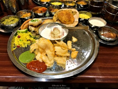 The thali - it costs around 43 AED per head