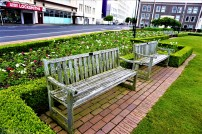 The waiting benches