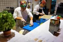 Sushi in making