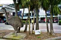 Thats the statue of NZ Moa. They are thought to have become extinct some 200 years ago before which they were the largest living animal in NZ and the tallest bird in the world.