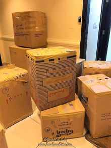 The numerous boxes we packed