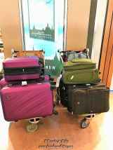 and finally we step outside Auckland airport with this much luggage