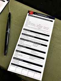The form you need to fill in before renting anything